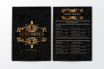 Luxury Restaurant Food Menu Template