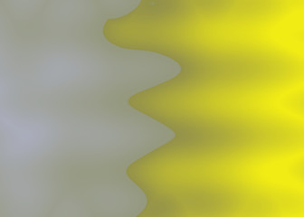 Papiers peints Jaune Abstract illustration filled with a gradient color, that has a special shape.