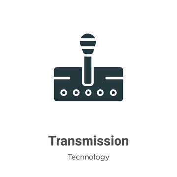 Transmission glyph icon vector on white background. Flat vector transmission icon symbol sign from modern technology collection for mobile concept and web apps design.