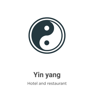 Yin yang glyph icon vector on white background. Flat vector yin yang icon symbol sign from modern accommodation collection for mobile concept and web apps design.