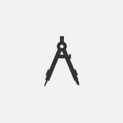 compass drawing icon vector illustration symbol