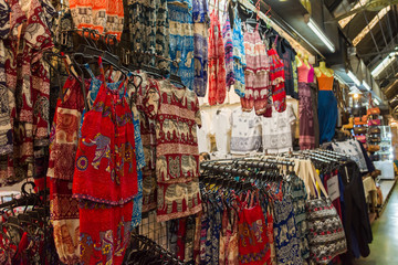 Various type of colorful children costume selling at the Chatuchak weekend market in Bangkok,Thailand.
