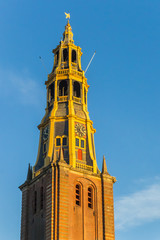 Fotomurales - Tower of the A church in Groningen, Netherlands