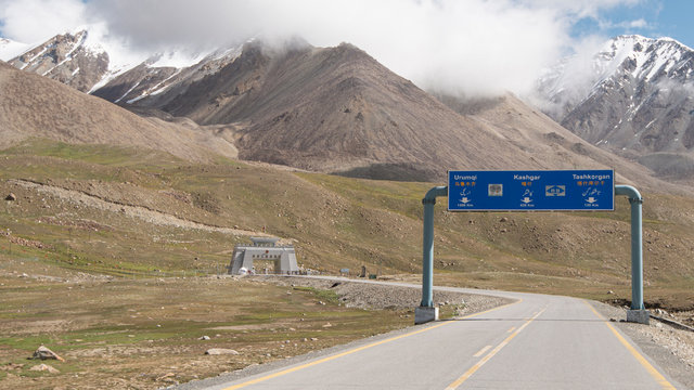 Khunjerab Pass, the highest border crossing in the world between Pakistan and China, taken in August 2019