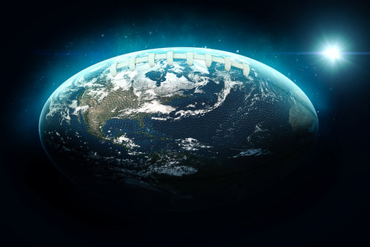 The globe as american football- 3D-Illustration
