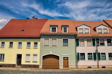 Fotomurales - delitzsch, deutschland - sanierte häuser in der altstadt