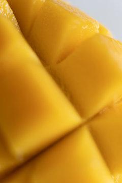 mango chunks macro closeup