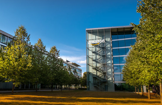 Amazon Headquater in Munich Germany - May 17, 2018
