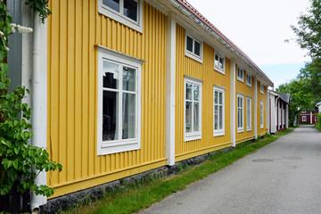alte Holzhäuser in Lulea Schweden