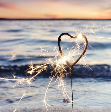Valentinstag, Herz am See