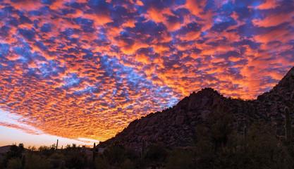 Vibrant Sunset Skies at Pinnacle Peak In Scottsdale