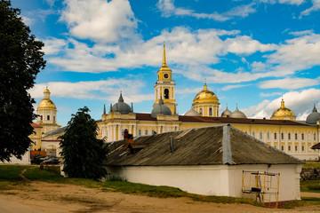 St. Nilus Monastery landscape view, Stolobny island, Ostashkov district, Tver region, Russia