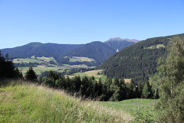 Spoed Foto op Canvas Olijf landscape with verdant hills in northern Italy