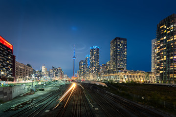 Wall Mural - Toronto skyline by night