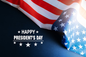Presidents day celebrate on america flag background Fotomurales