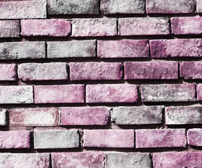purple and white background square brick wall texture grunge with white background on right and...