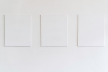 Free Spaces; 3 blank Frames on white background