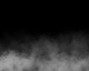 Garden Poster Smoke black and gray fog and smoke and mist effect on black background and Isolated white fog on the black background