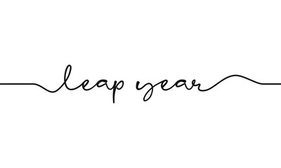 leap year script text on white background