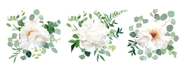 Fototapeta Wedding white flower vector design bouquets obraz