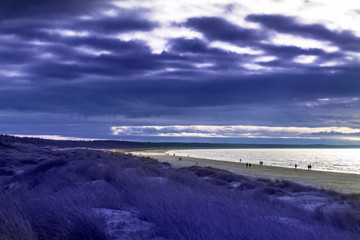 Fototapete - Tranquile day by Baltic sea coast.