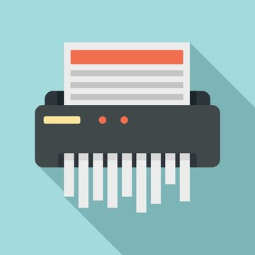 Paper shredder icon. Flat illustration of paper shredder vector icon for web design