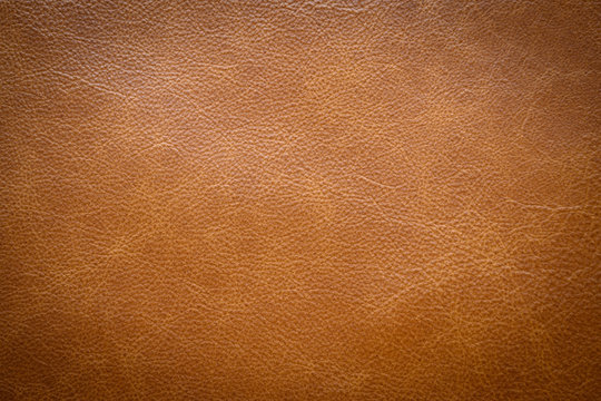 Brown leather texture . background