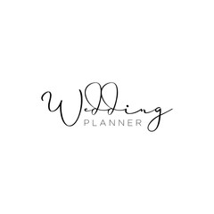 Wedding planner, wedding organizer logotype design. Simple and elegant