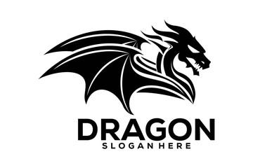 Dragon Logo Icon, Dragon Logo Template, Dragon logo Vector illustration