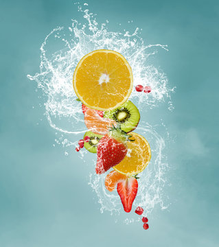 Fresh fruits for a vitaminic diet