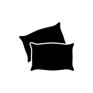 Pillow icon, logo isolated on white background