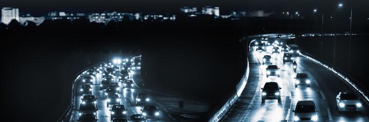 nächtlicher stadtverkehr Fotomurales