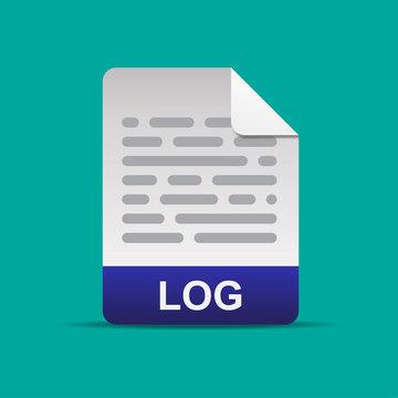 Log file format icon vector illustration.