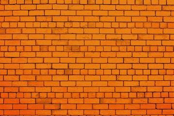Urban orange color brick wall.