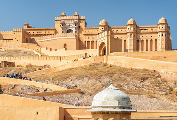 Gorgeous view of the Amer Fort and Palace, Jaipur, India Fotomurales