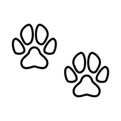 Paw dog icon vector simple design