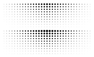 Wall Mural - Set of gradient halftone dots backgrounds. Horizontal templates using halftone dots pattern. Vector illustration