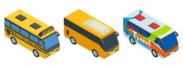 compilation of isometric buses three pieces