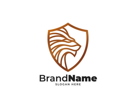 lion guard logo design vector, speed technology design