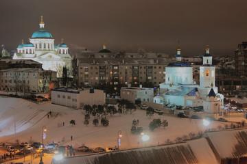 City and Orthodox churches. Kazan, Russia