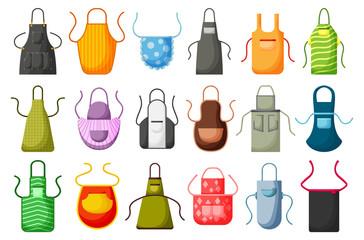 Kitchen apron vector cartoon icon set. Isolated cartoon set cook uniform.Vector illustration icon kitchen apron on white background .