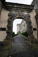 View to castle Odescalchi  at town of Bracciano, Lazio in Italy