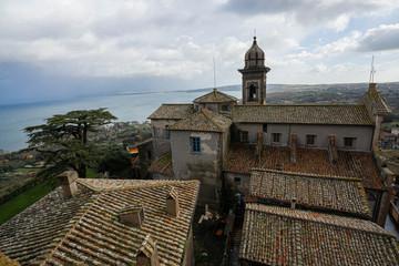Scenic landscape in the city of Bracciano in Lazio, Italy