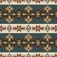 Foto auf AluDibond Boho-Stil Aztec, Navajo geometric seamless pattern. Native American Southwest print. Ethnic design wallpaper, fabric, cover, textile, rug, blanket.