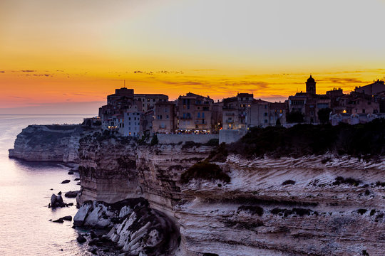 Sunset over Bonifacio