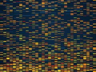 Genomic visualization. Dna genomes sequencing data analysis. Digital internet technology, bioinformatics testing chromosome vector concept