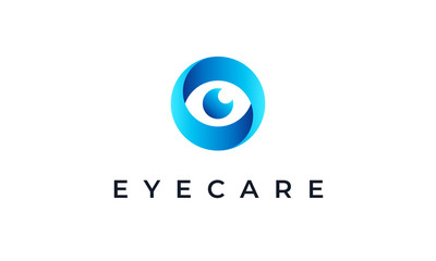 Abstract Eye Logo Design