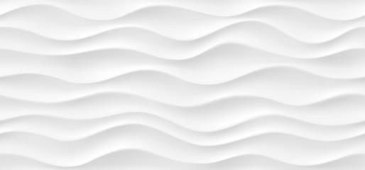 Texture ondulée abstraite blanche. Modèle moderne sans couture avec des vagues.