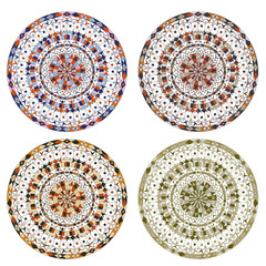 4 Different Beautiful Round Patterns
