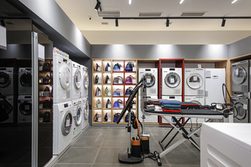 Premium home appliance store interior